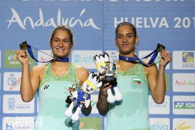 Сестри Стоеви се класираха за 1/4-финалите на турнира по бадминтон в Дания