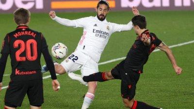 Реал Мадрид избегна загуба след гол в края