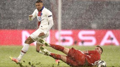 Мбапе и ПСЖ удариха Байерн под снеговалежа в Мюнхен