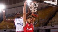 Александър Везенков се завърна в игра при загуба на Олимпиакос в Евролигата