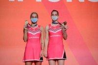 Стефани и Габриела Стоеви са европейски шампионки по бадминтон